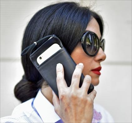 eWall®-Strahlenschutz-Etui für Smartphone. Größe M.